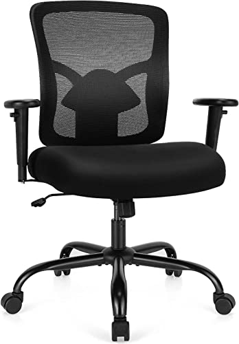 popular Giantex wholesale Mesh Office Computer Chair, 400 lbs Big and Tall discount Ergonomic Executive Chair with Adjustable Height and Armrest, Lumbar Support, Rolling Swivel Computer Task Chair for Conference Room Office online sale