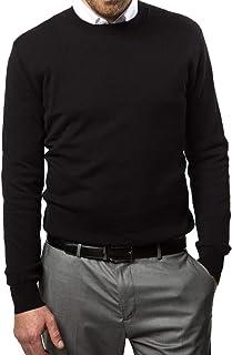 Marino Cotton Sweaters for Men - Lightweight Crewneck Men's Pullover