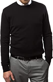 Marino Cotton Sweaters for Men - Lightweight Crewneck Men's Pullover