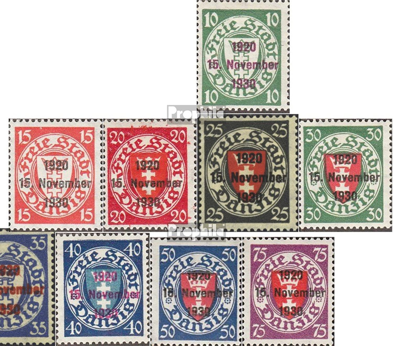 Gdansk 220-230 (complete issue) 1930 print edition (Stamps for collectors)