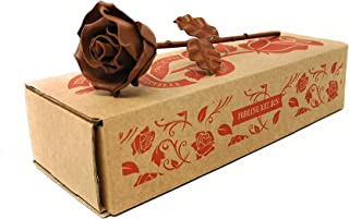 Rosa Eterna de Hierro Forjado color Óxido - Forjada a Mano
