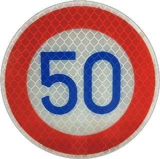 道路標識 ミニチュア 標識板のみ・ 制限速度 50キロ