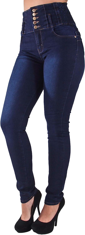 Plus Size/Junior Brazilian Design Butt Lift High Elastic Waist Skinny Jeans