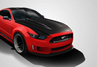 Carbon Creations Replacement for 2015-2017 Ford Mustang Cowl Hood - 1 Piece