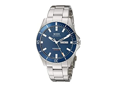 Mido Ocean Star Stainless Steel Bracelet M0264301104100 (Blue) Watches