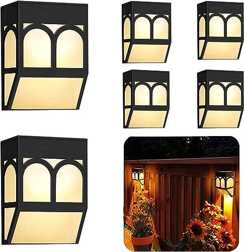 Iluminación Exterior- LED Lámpara Luz Solar Impermeables para Valla Porche Garaje del Jardín Camino Decoración Navide...