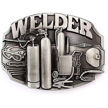 Vintage Men's Welder Belt Buckle American Workers (BBFA-WDR-01)