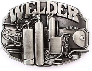 SeaStone Vintage Men`s Welder Belt Buckle American Workers (BBFA-WDR-01)