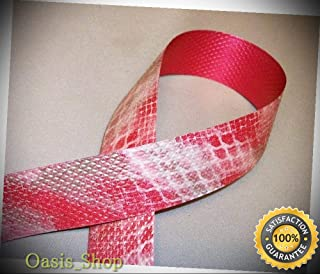25 Yrds. Bow/Gift Wrapping Ribbon RED Snakeskin Print - Ribbon Lyrical Dance Costumes, Sashes, Headbands