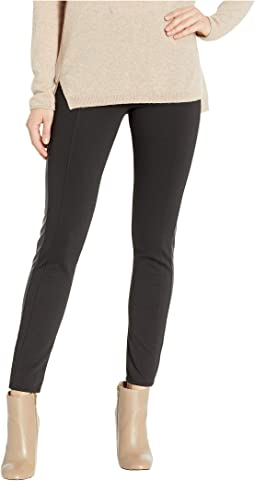 Faux Leather Trimmed Legging