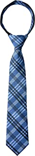 Spring Notion Boy's Plaid Woven Zipper Tie