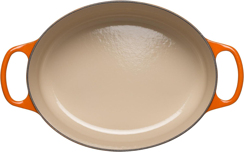 31 cm 211783100 6.3 Litre Satin Black LE CREUSET Signature Enamelled Cast Iron Oval Casserole Dish With Lid