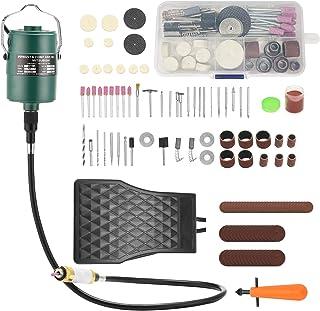 TOPQSC Flex Shaft Grinder Hangende elektrische slijpmachine 800 tot 24000 omw/min multifunctioneel gereedschap voetpedaal ...