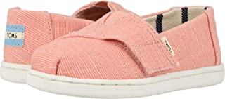 TOMS Kids Baby Girl's Alpargata (Toddler/Little Kid) Coral Pink Heritage Canvas 5 M US Toddler