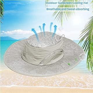 yingyi Summer Cooling Hat Wide Brim Sunscreen Hydro Cooling Sun Cap with Anti UV Feature for Men Women Hot Weather Gardening Yard Beach Outdoor Planing Hiking Fishing Camping