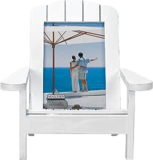 Malden International Designs Shoreline Adirondack Dimensional Wooden Chair Frame, 4x6, White
