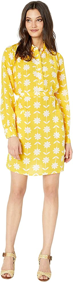 Silk Marigold Floral Dress