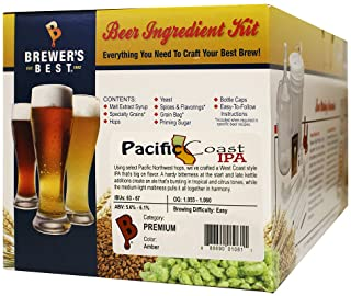 Brewer's Best Home Brew Beer Ingredient Recipe Kit (5 Gallon) - Pacific Coast IPA