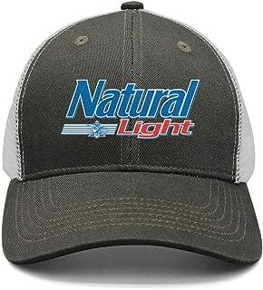Adjustable Natural-Light-Logo-Beer- Trucker Hat Dad Designer Caps