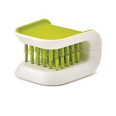 Joseph Joseph BladeBrush Knife and Cutlery Cleaner Brush Bristle Scrub Kitchen Washing Non-Slip, One Size, Green