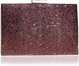 GLJJQMY Dinner Bag Fashion Sequins Female Dress Banquet Evening Bag Clutch Evening Bags (Color : Red, Size : 18.5x12.5x5cm)