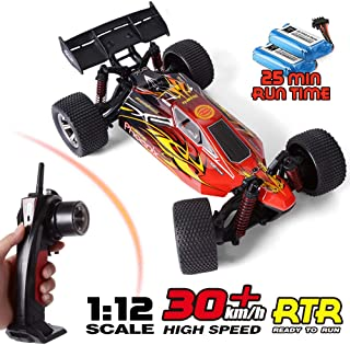 RC Trucks, GPTOYS 1:12 Scale Remote Control Car 2.4Ghz All Terrain Off-Road Hobby RC Cars, 2 Rechargeable Batteries, Toy Cars for Boys and Adults