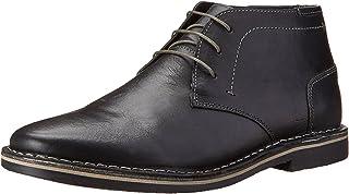 حذاء شوكا للرجال من ستيف مادن, (جلد أسود), 45 EU Wide