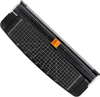 Letion Massicot A4 Papier Rogneuse, Coupe Papier en Titane avec Sécurité automatique pour Découper des photos ou des étiqu...