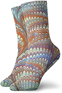 Kevin-Shop, Color Twisted Cylinder Classic Crew Calcetines Tejidos Planos Casual Athletic Stoking Soft