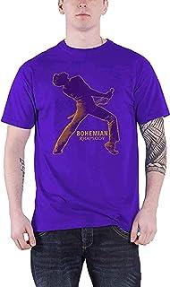 公式 Bohemian Rhapsody T Shirt Queen Fortune Movie Logo 新しい メンズ パープル