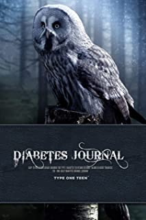 Diabetes Journal - Easy to Use Blood Sugar Logbook for Type 1 Diabetes (Glycemic Record / Blood Glucose Tracker) T1d - Owl...