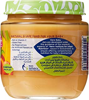 Hero Baby Peach Banana Baby Food Puree, 6 Months, 1 Year