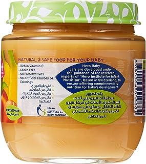 Hero Baby Peach Banana Baby Food Puree, 6 Months - 1 Year