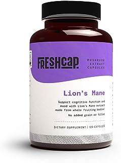 FreshCap Organic Lion's Mane Mushroom Extract Powder Capsules - Mental Clarity and Focus - Brain Boosting Nootropic - 120 ...