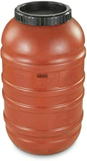 SABADIVA Water Barrel Rain Barrel   58 Gallon Drum Capacity Barrel Military Storage Containers Waterproof Food Grade Barrels, Not of Metal