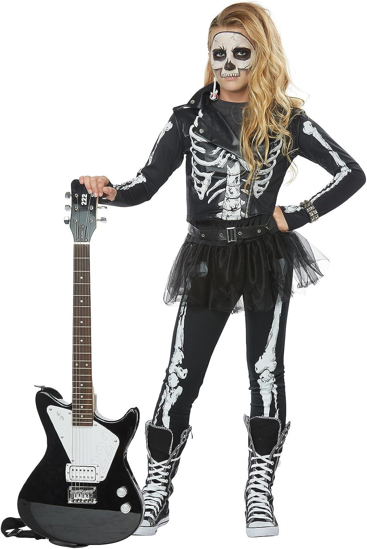 Skeleton Rocker Girls Costume XLarge