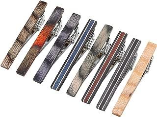 Natural Wood Men Fashion GQ Tie Clips Pinch Necktie Bar Clasps Gentleman Shirts Dress