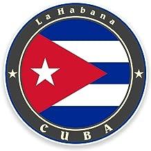 2x 10cm) Cuba bandera vinilo adhesivo coche bicicleta para ordenador portátil viaje equipaje etiqueta # 9242