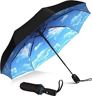 Repel Windproof Travel Umbrella with Teflon Coating (Blue Sky)