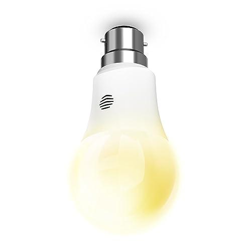 Hive Lights Dimmable B22 Bayonet Smart Bulb, Works with Amazon Alexa