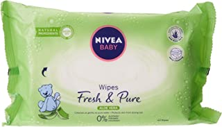 NIVEA Baby Wipes, Fresh & Pure, 4 x 63 Wipes