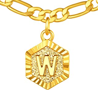 "ChainsPro 26 Letter Necklace, Short Choker for Women, 16""+2"", 18K Gold Plated (Send Gift Box)"