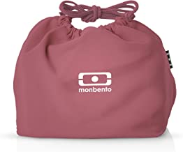 monbento - MB Pochette Blush pink Bento lunch bag - Polyester lunch tote - Suitable for MB Original MB Square & MB Tresor ...
