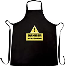 Novelty Barbecue Chef's Apron Danger! Men Cooking Sign Black One Size