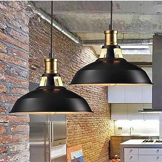 STOEX Suspension Vintage Industrielle Lot de 2 Lampe de Plafonniers LED Retro Métal Lustre avec Abat-jour Luminaire E27 Ec...