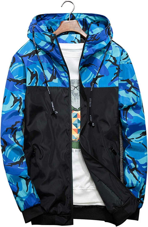 Kevents Men's Military Windbreaker Camouflage Patchwork Jackets Coats Streetwear Men Jacket Camo Clothes