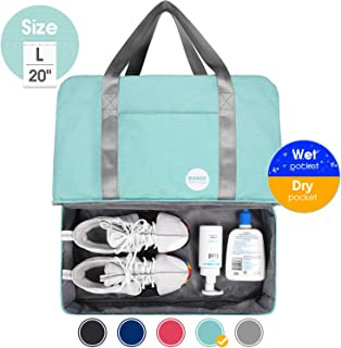 WANDF 16 / 20 Gym Bag Sports Duffle with Wet Pocket and Shoes Compartment for Swim Sports Travel Luggage
