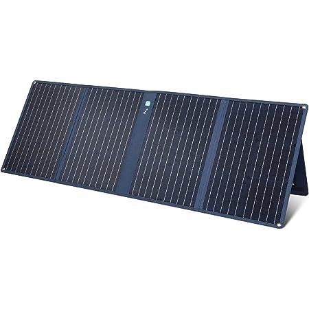 Anker PowerSolar 3-Port 100W(ソーラーパネル DC7909端子対応 & USBポート搭載)【合計最大出力100W / 折りたたみ可能 / DC7909端子 / USB-Aポート/USB-Cポート/ソーラーチャージャー】キャンプ アウトドア 防災 ポータブル電源 太陽の位置測定器 高出力 PowerIQ PowerHouse II 400 800 対応