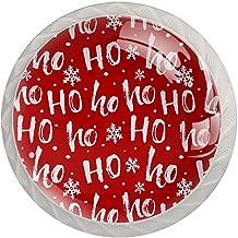 FURINKAZAN Kast Knop Pull Handvat Kerst Rode Ho 4-Pack Keuken Kastdeur