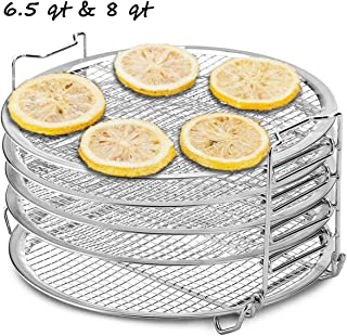 Dichmag Dehydrator Rack Grill Accesories Compatible For Ninja Foodi Pressure Cooker and Air Fryer 6.5 and 8 Quart, Instant Pot Duo Crisp 8 qt, Food Grade Stainless Steel